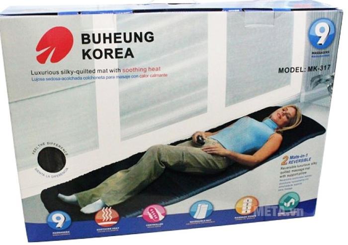 Dải đệm nằm massage Buheung MK-317 tập trung vào 9 điểm huyệt đạo