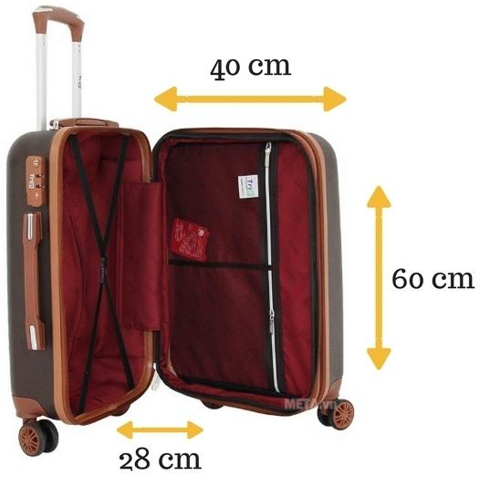 Vali du lịch cao cấp Trip P803A - size 60 có kích thước lớn