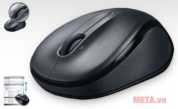 Con lăn của chuột quang  M325 được thiết kế rất nhạy, cho tay cuộn mượt mà