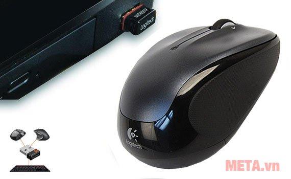 Chuột quang Logitech M325 có thể dùng cho cả máy tính để bàn và laptop