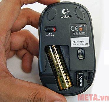Chế độ nghỉ của chuột không dây Logitech M325 giúp pin có thể tăng tuổi thọ lên 18 tháng