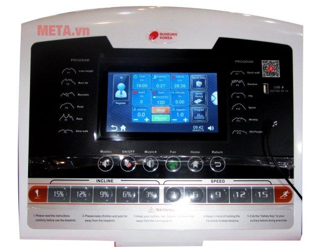 Màn hình của máy chạy bộ điện Buheung MK-222
