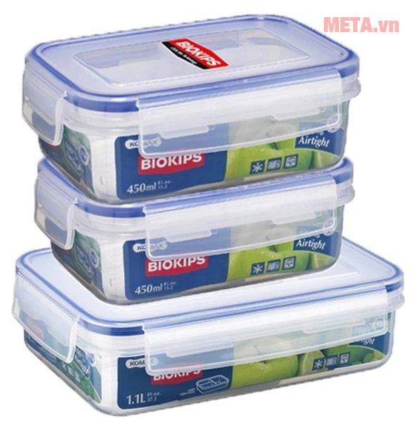 Bộ hộp nhựa Biokips Hàn Quốc