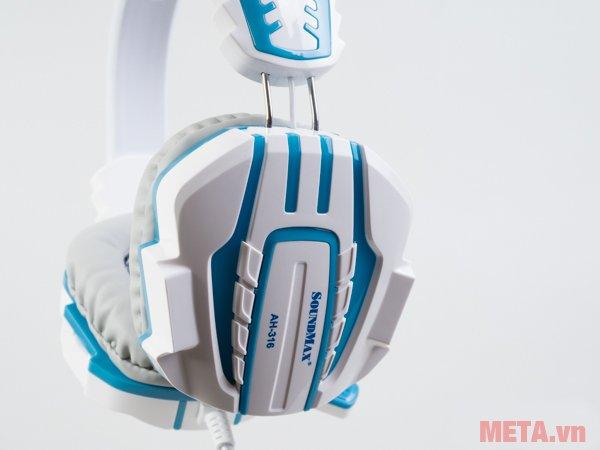 Tai nghe SoundMax AH-316 trang bị đệm tai siêu êm cho bạn thoải mái khi dùng