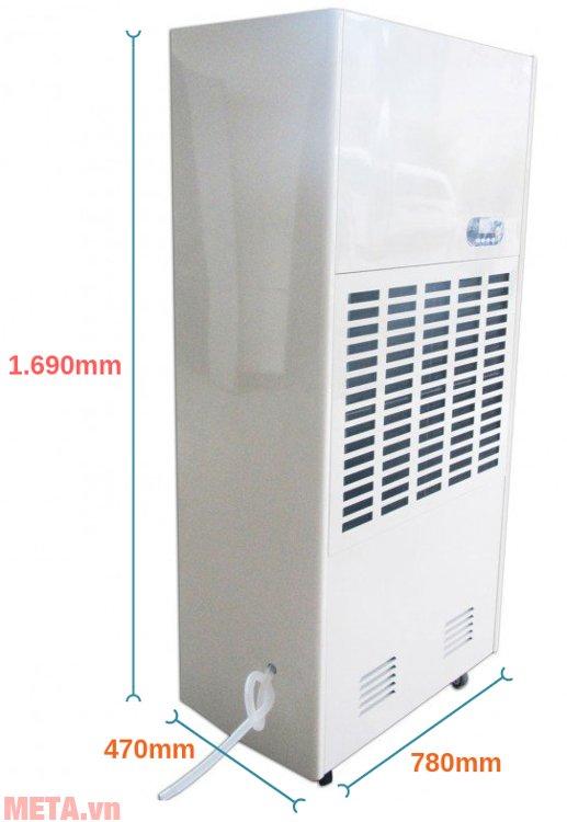 Kích thước của máy hút ẩm công nghiệp FujiE HM-2408D