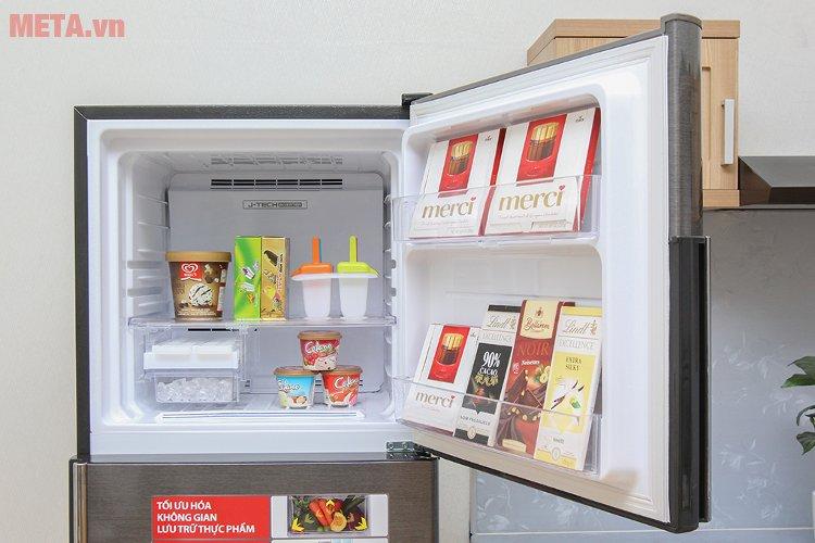 Tủ lạnh Sharp inverter SJ-X346E-DS có dung tích ngăn đá 75 lít