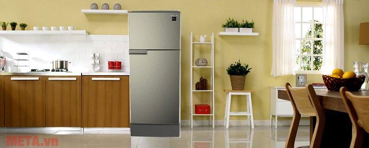 Tủ lạnh gia đình Sharp SJ-198P-SSA có kích thước nhỏ gọn, thiết kế sang trọng