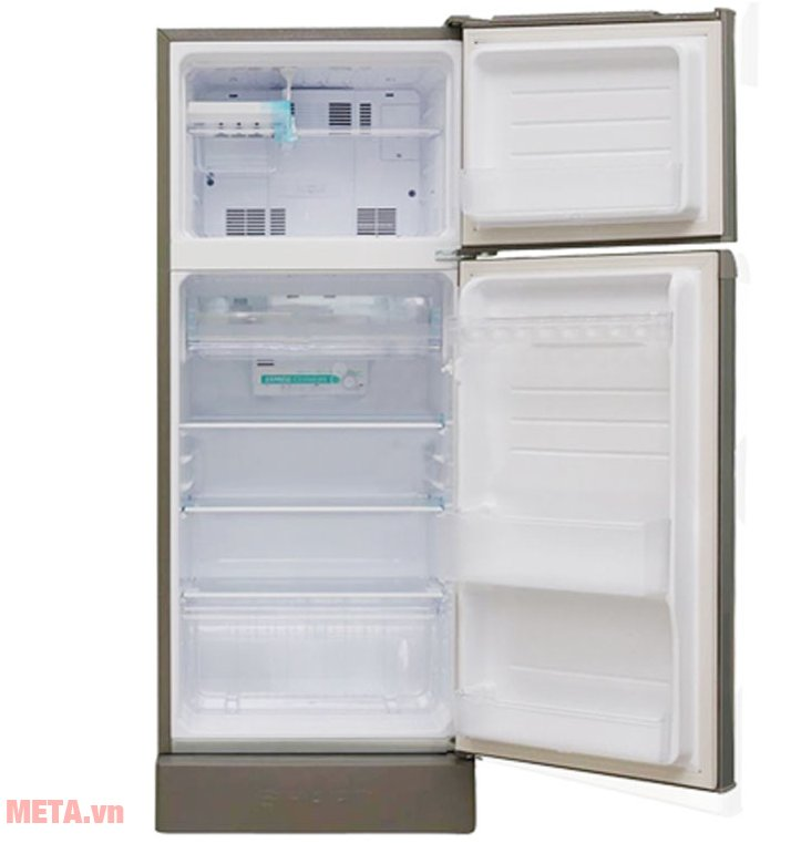 Tủ lạnh gia đình Sharp SJ-198P-SSA có dung tích 180L với hai cánh cửa