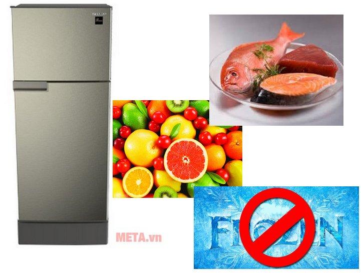 Tủ lạnh hai cánh Sharp SJ-198P-SSA có công nghệ làm lạnh tự nhiên không làm đóng băng thực phẩm