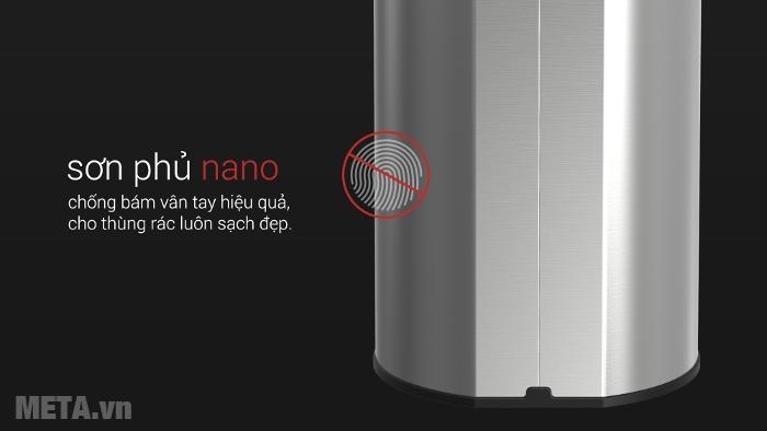 Thùng rác Inox nhấn tròn nhỏ Fitis RTS1-901 chống oxi hóa, được sơn tĩnh điện phủ nano