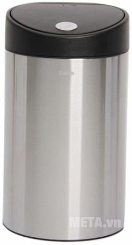 Thùng rác Inox nhấn tròn nhỏ Fitis RTS1-901 màu bạc trang nhã