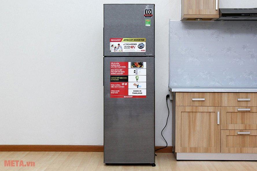 Tủ lạnh Sharp SJ-X251E-DS với thiết kế sang trọng, hiện đại phù hợp với không gian bếp nhà bạn