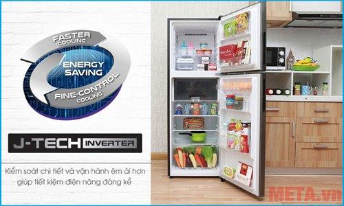 Tủ lạnh SJ-X251E-DS vận hành êm ái hơn, tiết kiệm điện năng hơn