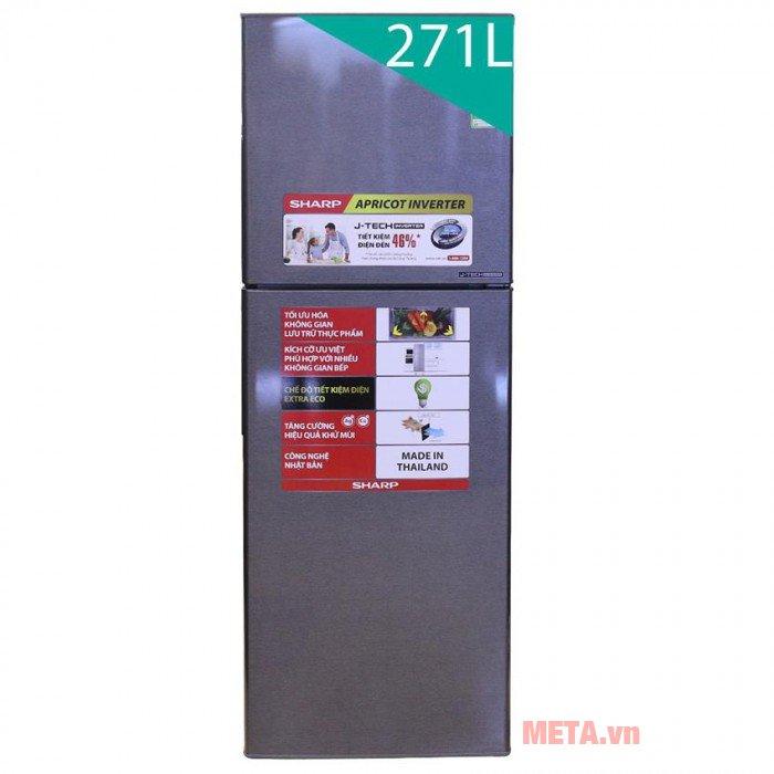 Tủ lạnh chống khuẩn Sharp SJ-X251E-DS 241L