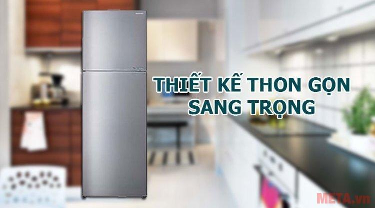 Tủ lạnh Sharp SJ-X251E-SL với thon gọn, sang trọng, tiết kiệm không gian cho căn bếp nhà bạn