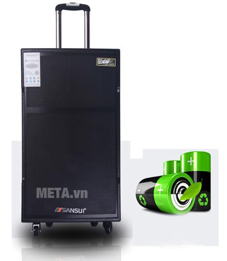 Loa đem lại khả năng dùng pin liên tục từ 6 đến 8 tiếng