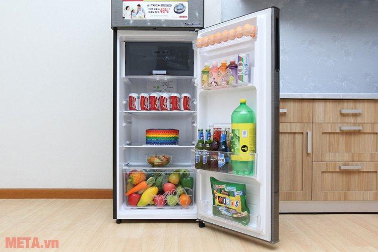Với thiết kế thon gọn, tủ lạnh  J-TECH INVERTER SJ-X281E-SL giúp gia đình bạn tiết kiệm diện tích