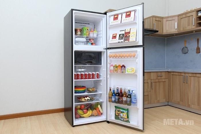 Tủ lạnh Sharp Inverter  SJ-X316E-DS chứa nhiều ngăn đựng
