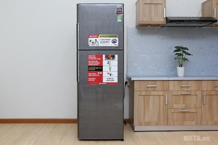 Tủ lạnh Sharp Inverter  SJ-X316E-DS nhỏ gọn sử dụng lắp đặt cho cả không gian hẹp