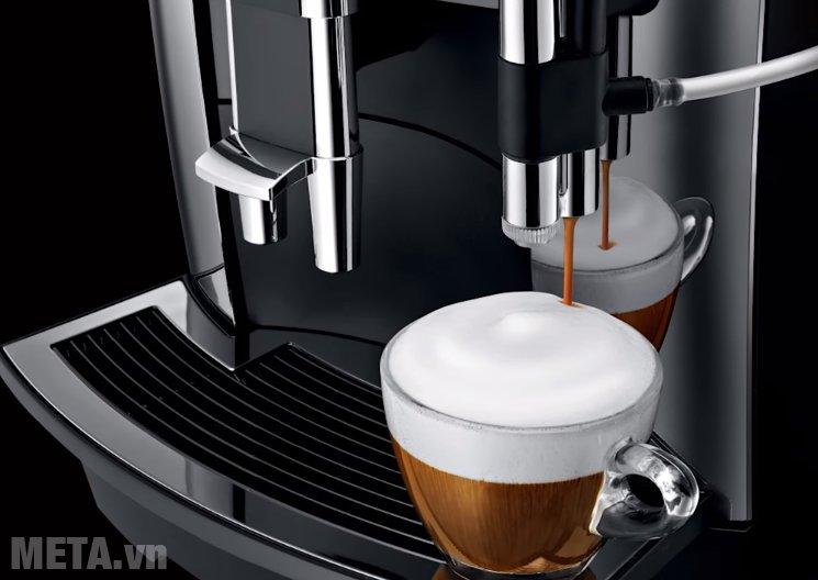 Máy pha cà phê tự động Jura Impressa WE8 thiết kế bộ tạo bọt sữa thế hệ 3, 1 nút nhấn