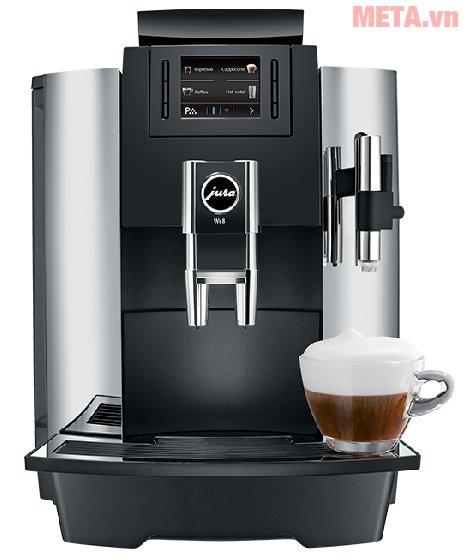 Máy pha cà phê tự động Jura Impressa WE8 giúp bạn tự pha Cappuccino, Espresso dễ dàng