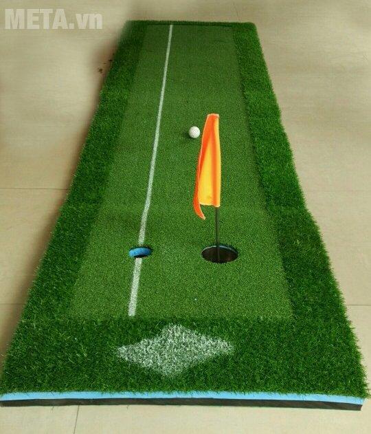 Thảm tập Putting Green 3m x 0.6m có 2 lỗ golf