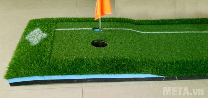 Thảm tập Putting Green 3m x 0.6m đi kèm bóng golf và cờ