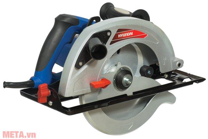 Máy cưa đĩa Hyundai HCD235 có thể cắt góc thẳng hoặc góc nghiêng 45 độ