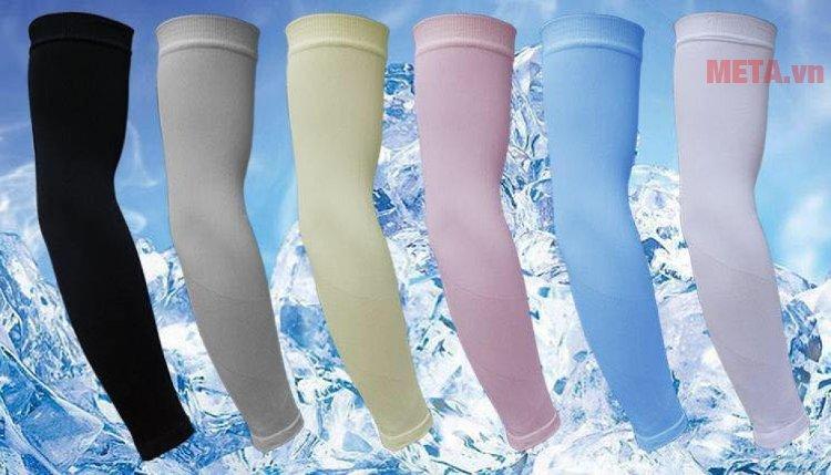 Găng tay chống nắng Aqua X có nhiều màu: đen, hồng, xám, xanh ngọc, xanh dương, trắng