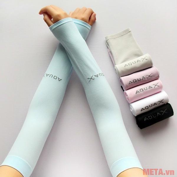 Găng tay chống nắng Aqua X màu xanh ngọc
