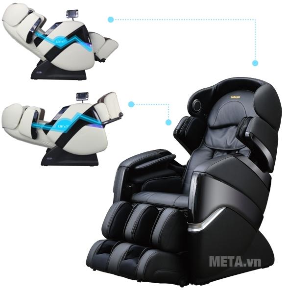 Sự linh hoạt của ghế cho người dùng ngả nghiêng nhiều góc độ