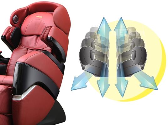 Ghế massage TC 711 có hai cấp độ không trọng lực