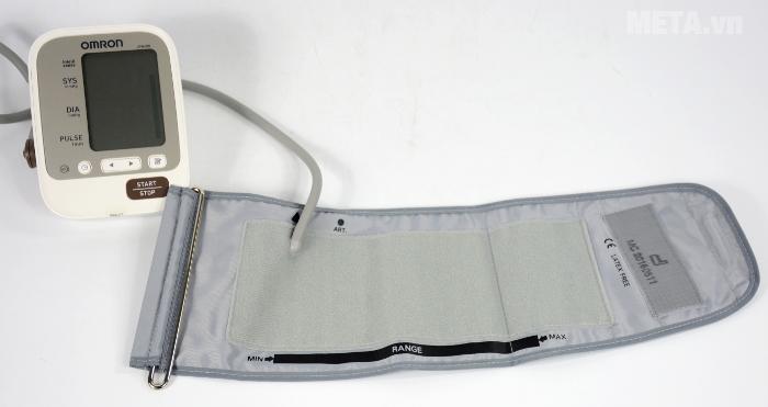 Omron JPN600 được thiết kế với cảm biến định vị hướng dẫn vị trí đặt tay đúng