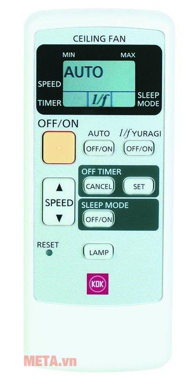 Quạt trần KDK V60WK có điều khiển từ xa