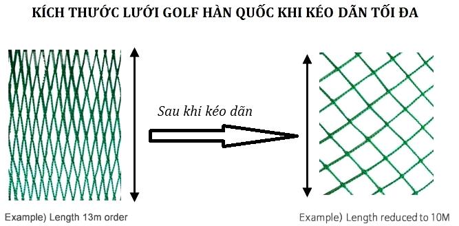 Lưới golf cho pheps co giãn kéo giãn