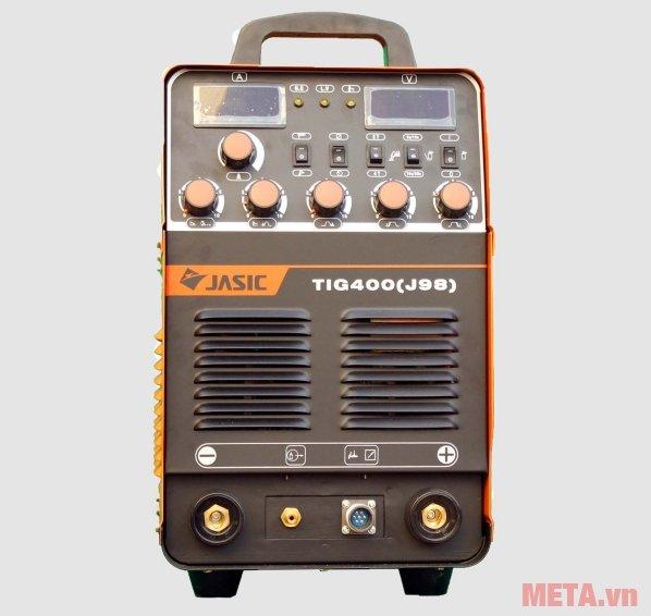 Mặt trướ của máy hàn Jasic TIG 400 J98