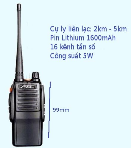 Máy bộ đàm Feidaxin FD-850 Plus nhỏ gọn, chắc chắn trong lòng bàn tay