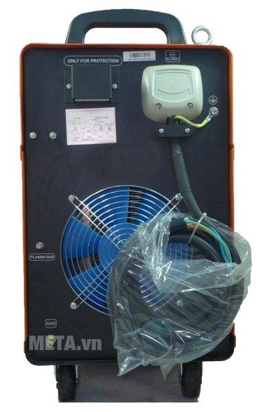 Máy cắt kim loại plasma Jasic CUT-160 (J47) trang bị quạt tản nhiệt lớn phía sau máy