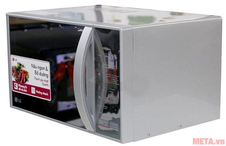 Lò vi sóng LG MH6342B/MH6343BAR thiết kế tay cầm mở cửa