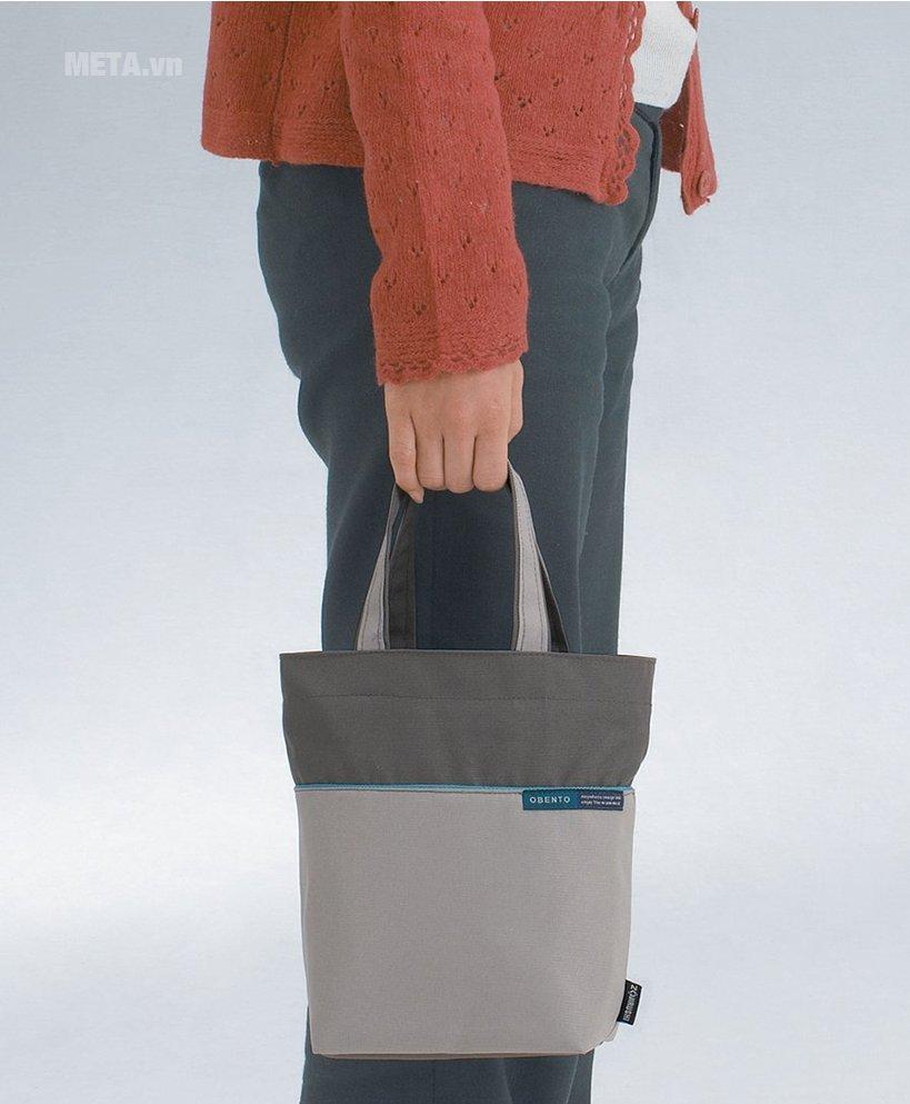Cặp lồng cơm giữ nhiệt Zojirushi SL-MEE07-AB có túi đựng tiện lợi