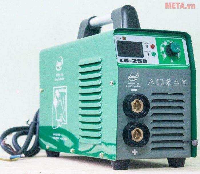 Máy hàn điện tử Legi LG-250 có thể điều chỉnh dòng hàn từ 20 - 250 A
