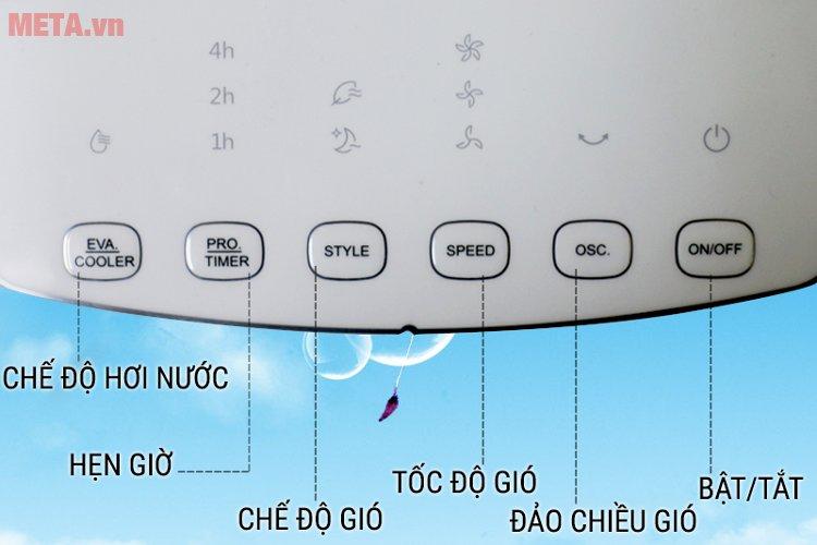 Các chức năng của máy làm mát Midea AC120-16AR có chế độ làm mát bằng hơi nước