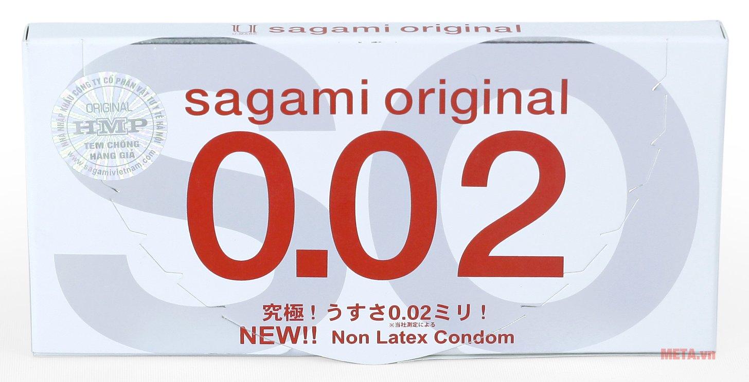 Bao cao su Sagami Original 0.02 truyền nhiệt nhanh
