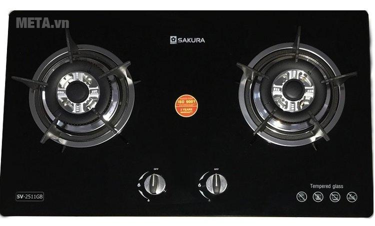Bếp ga âm Sakura SV-2511GB tiêu thụ gas ít chỉ 0,33 kg/h/lò