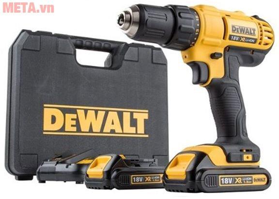 Bộ sản phẩm máy khoan vặn vít dùng pin DeWalt DCD771C2