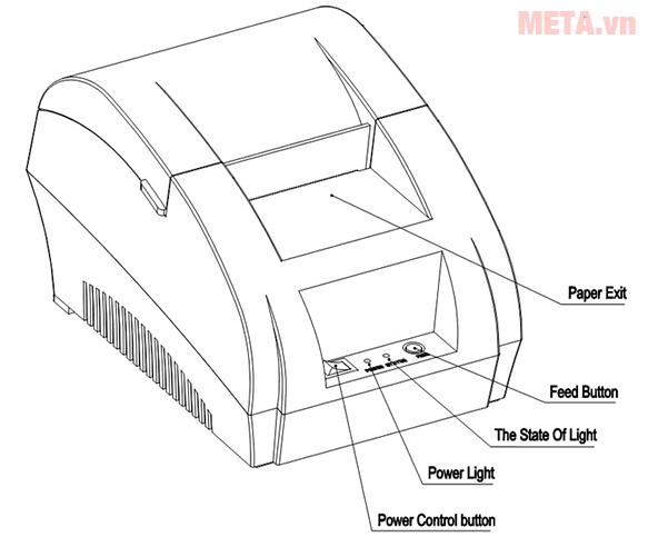 Máy in hóa đơn Super Printer 5890K dễ sử dụng, hỗ trợ thêm khay đựng tiền