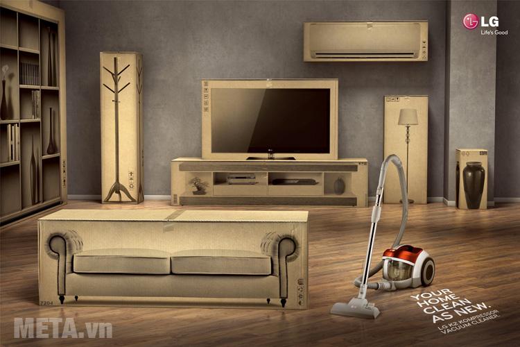 Máy hút bụi LG VC4220NHTO/VC4220NHTPO giúp bạn dễ dàng dọn dẹp những căn phòng rộng