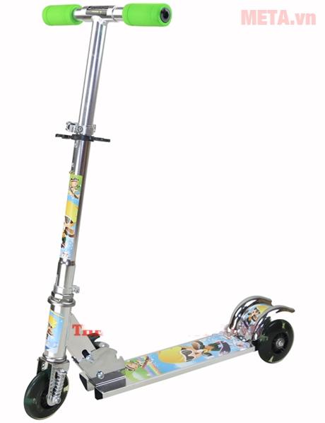Xe trượt Scooter 550 màu bạc sáng