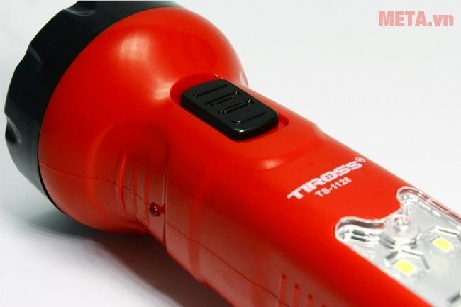 Đèn pin sạc điện Tiross TS-1128 được làm bằng nhựa cao cấp