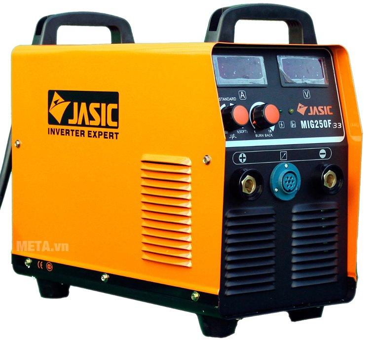 Máy hàn bán tự động Jasic MIG 250F (J33) có màn hình hiển thị dòng hàn và điện áp